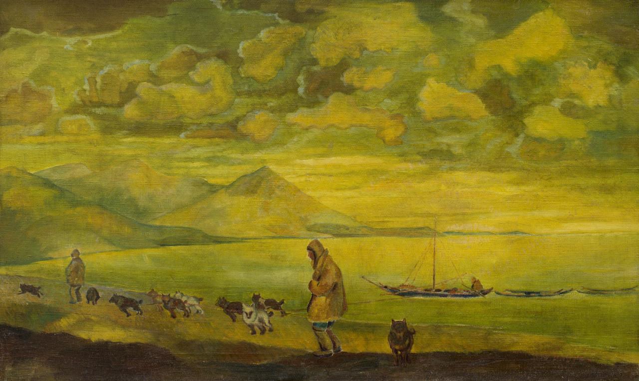 Андреев Николай Андреевич (22.05.1889–25.08.1938). На Крайнем Севере. Холст, масло. 70 × 117