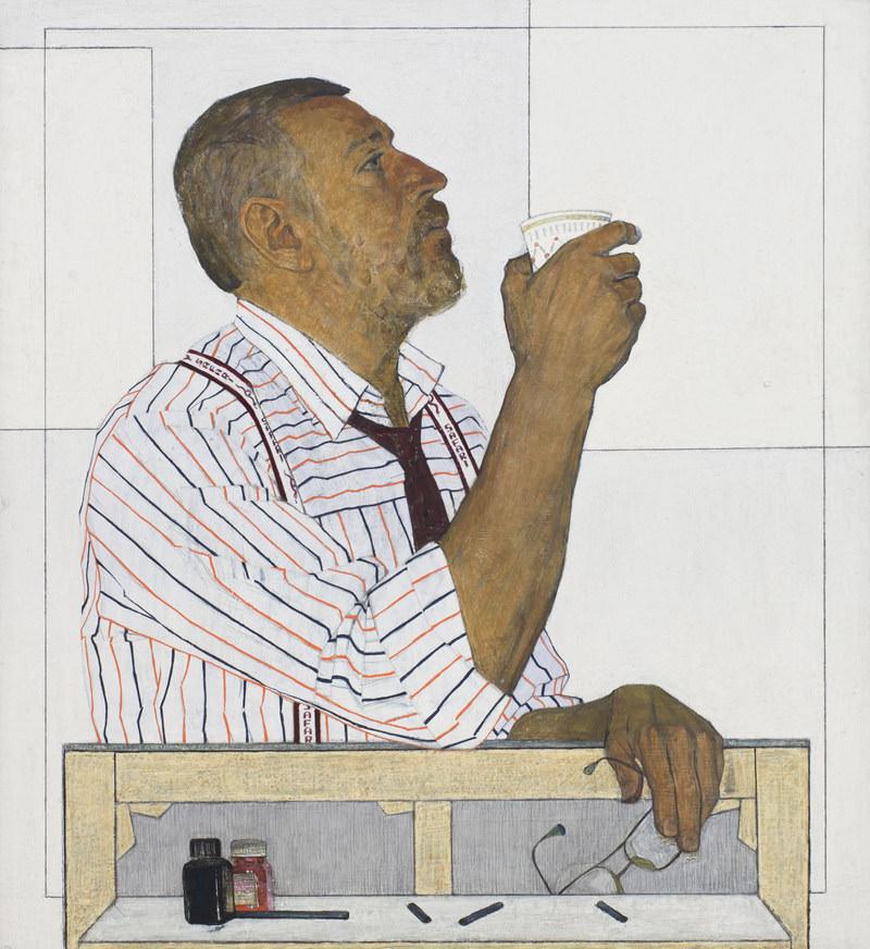 Несынов И. И. Портрет художника В. Смагина. 1995. Холст, масло. 110 × 100