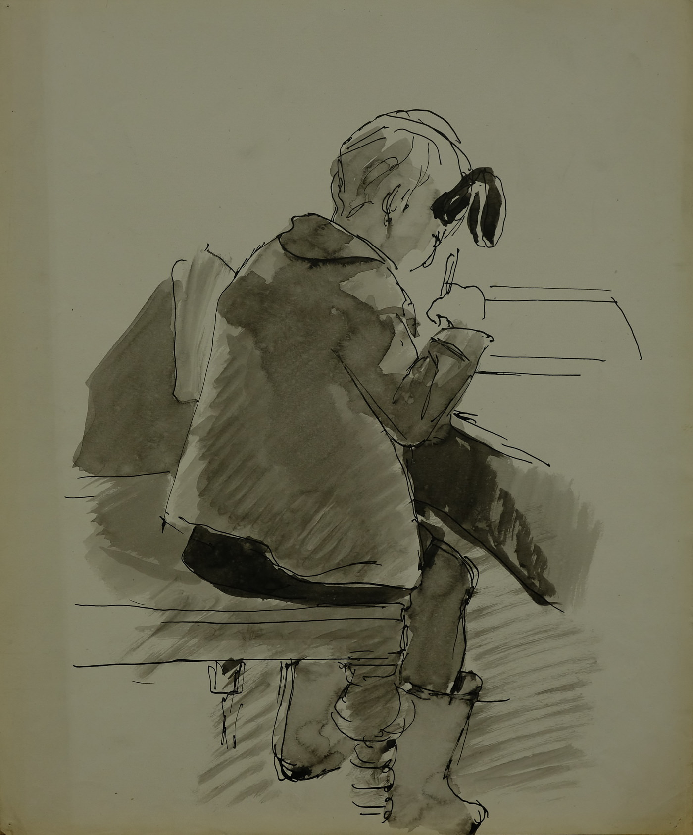 Владимир Кудряшев. Ирина за рисованием. 1939г.