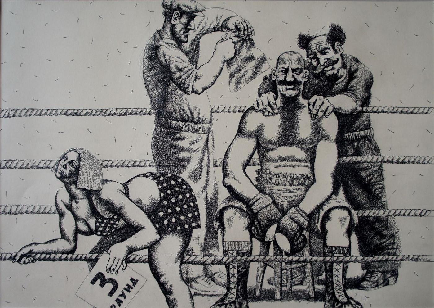 "Exhibition graphics Vasily Krushelnitsky ""Heroes and exploits"""