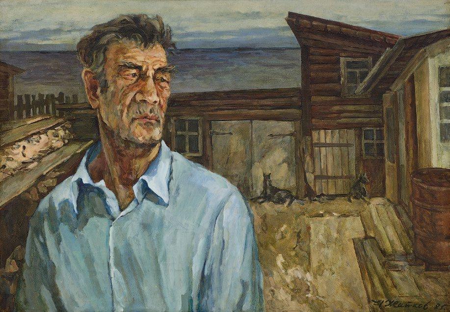 Николай Житков. Из серии «Сибиряки Байкала». 1985