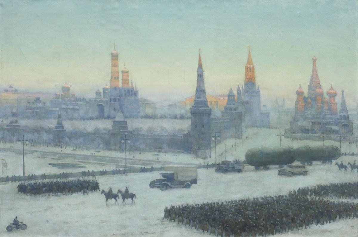 Константин Юон. Утро Москвы. 1942. Холст, масло