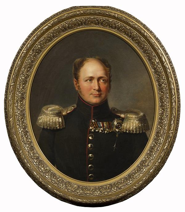 Портрет императора Александра I. Дж. Доу. Ок. 1825 г. Собрание С.и Т.Подстаницких