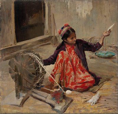 Павел Беньков. Девушка-хивинка. 1931 год, холст, масло. Государственная Третьяковская галерея