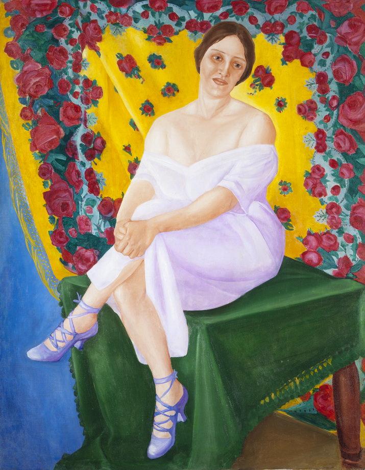 Фавста Шихманова. Портрет балерины. Сер. 1910-х. 133 х 102