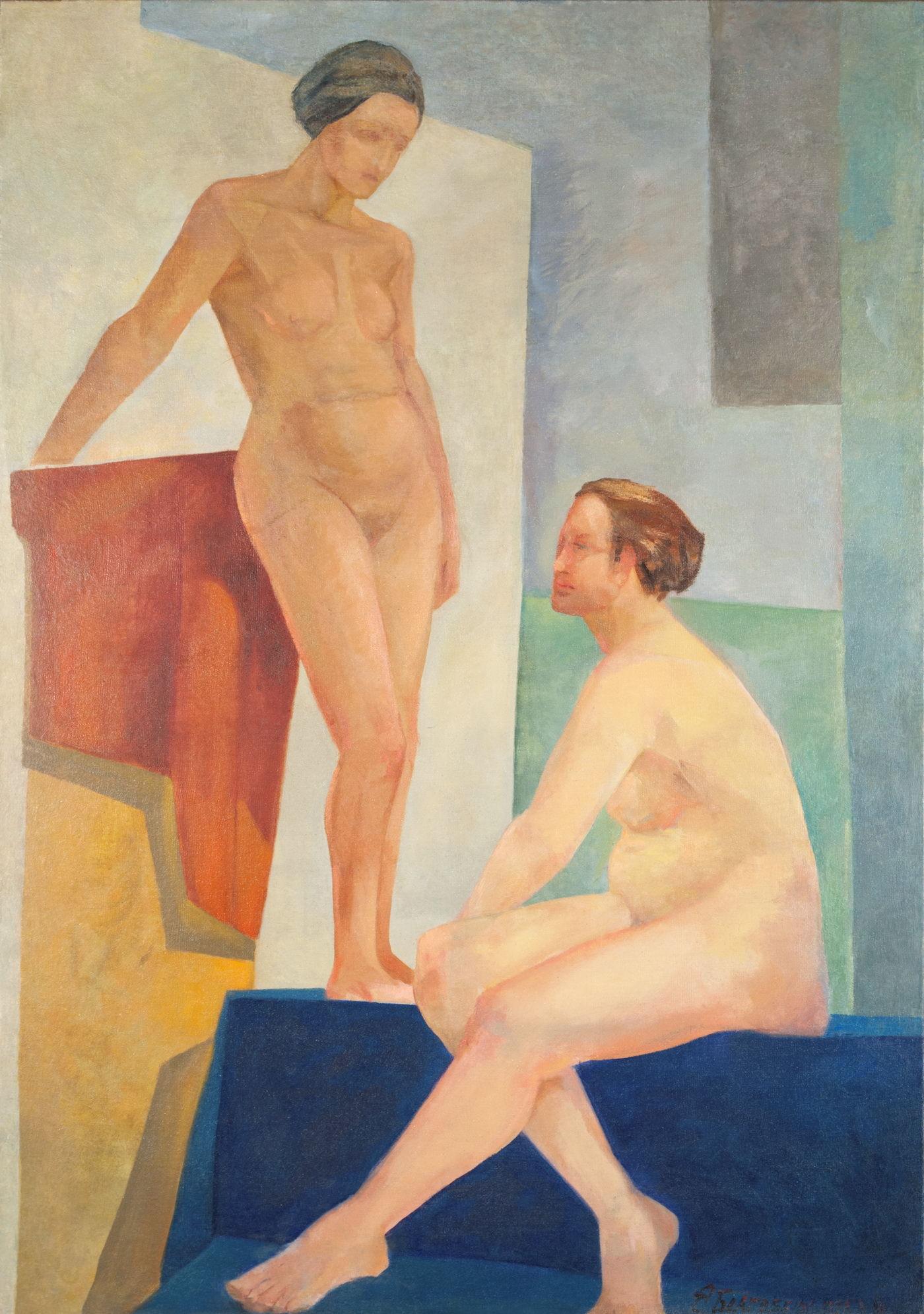 Евгения Благовещенская. Двойной портрет. Начало 1920-х. Холст, масло. 128 х 90 см