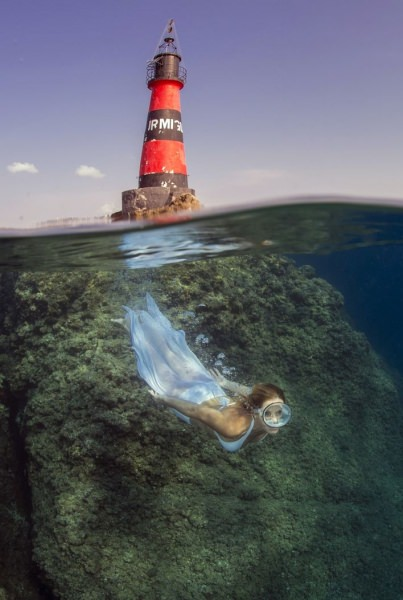 Mujer. Inmersión