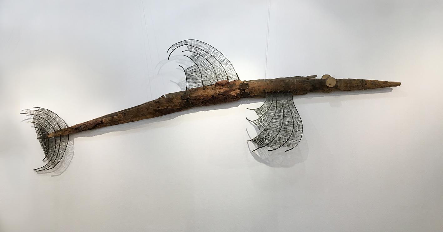 Мария Калмыкова. Рыба, 2009. Дерево, металл, 361х60х50 Courtesy of the East Meets West Gallery