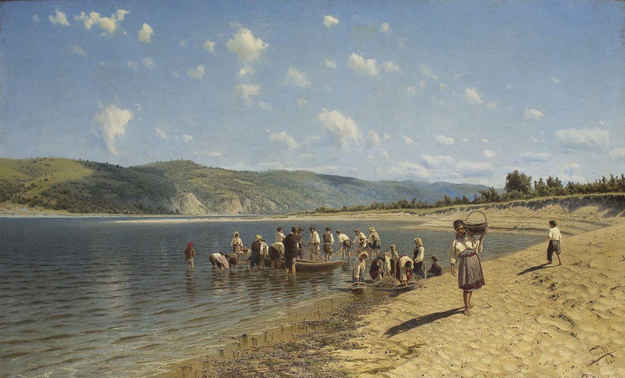 Николай Сергеев. Тоня на Днепре. 1888