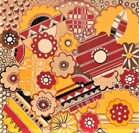 А.С. Дзюбина. Рисунок для ткани. 1938-1939-е гг. © Музей декоративно-прикладного и промышленного искусства при МГХПА им. С.Г. Строганова