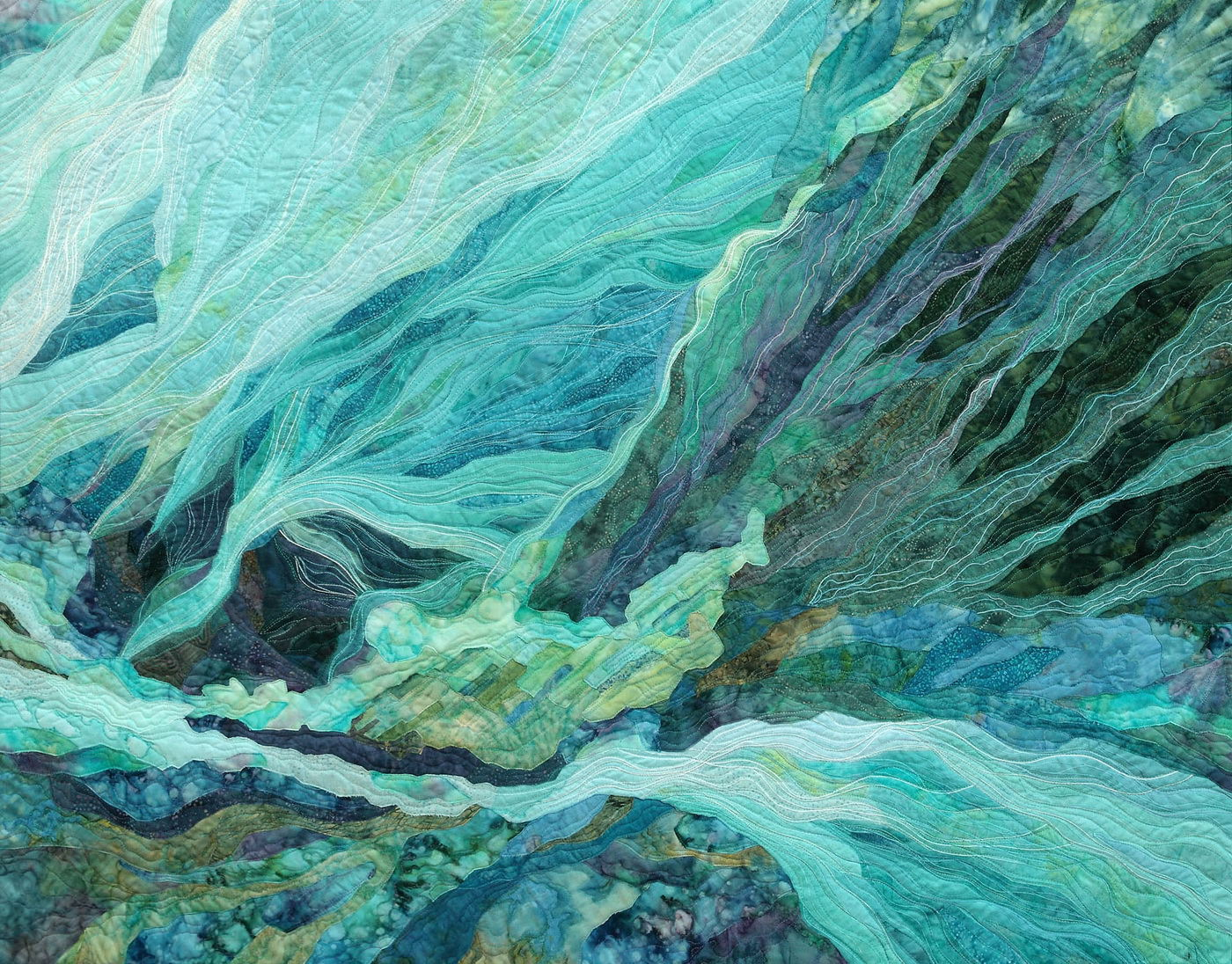 """Persönliche Ausstellung von Irina Voronina """"Living Hauch von Quilt"""". Ein Thread. Die Kleidung. Angelegenheit"""