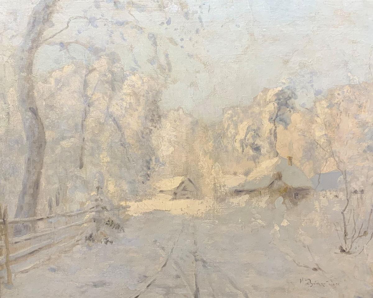 Дубовской Н.Н. Картина. Зимний пейзаж. 1895