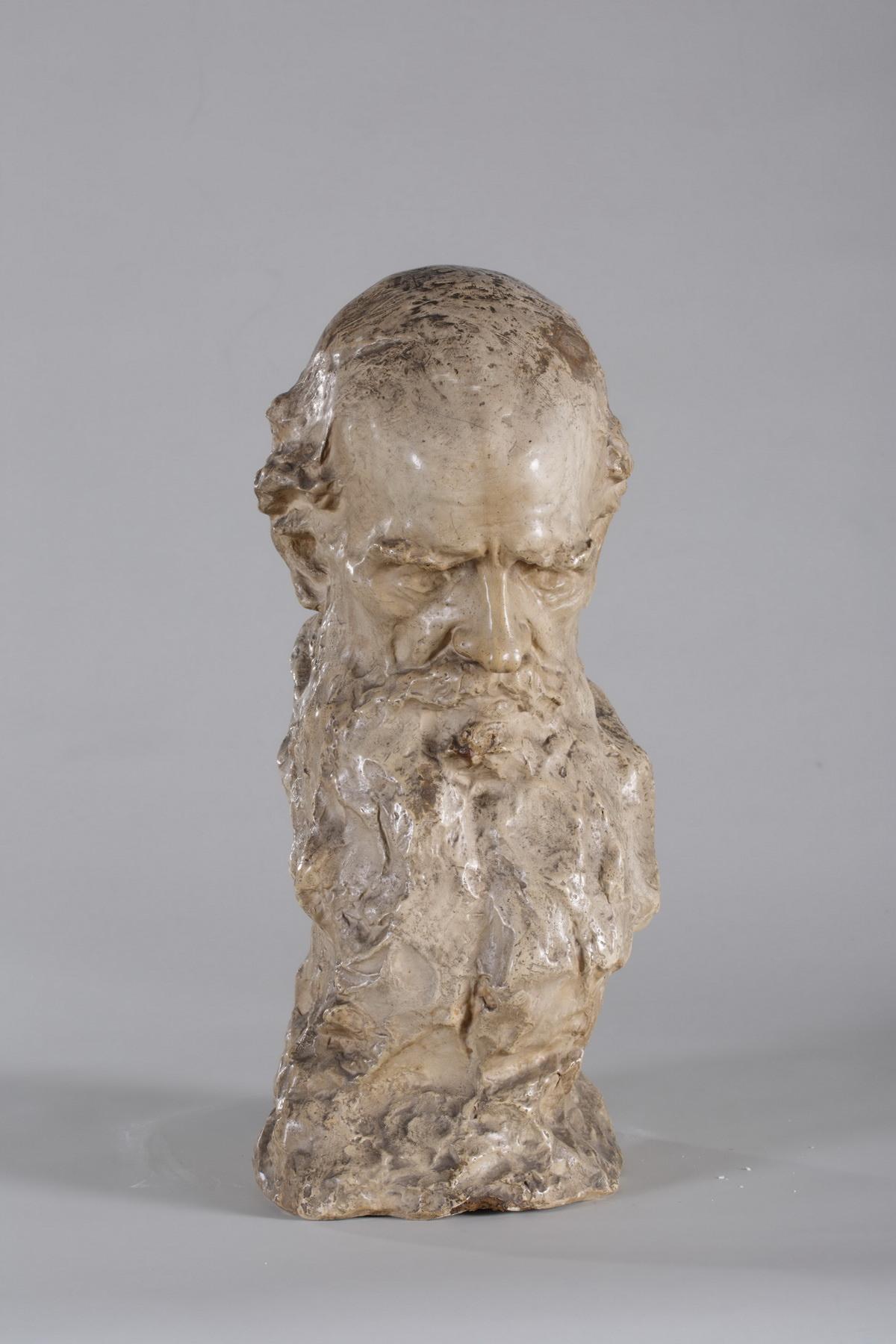 Аронсон Н.Л. Скульптура. Л.Н. Толстой. Голова. 1901
