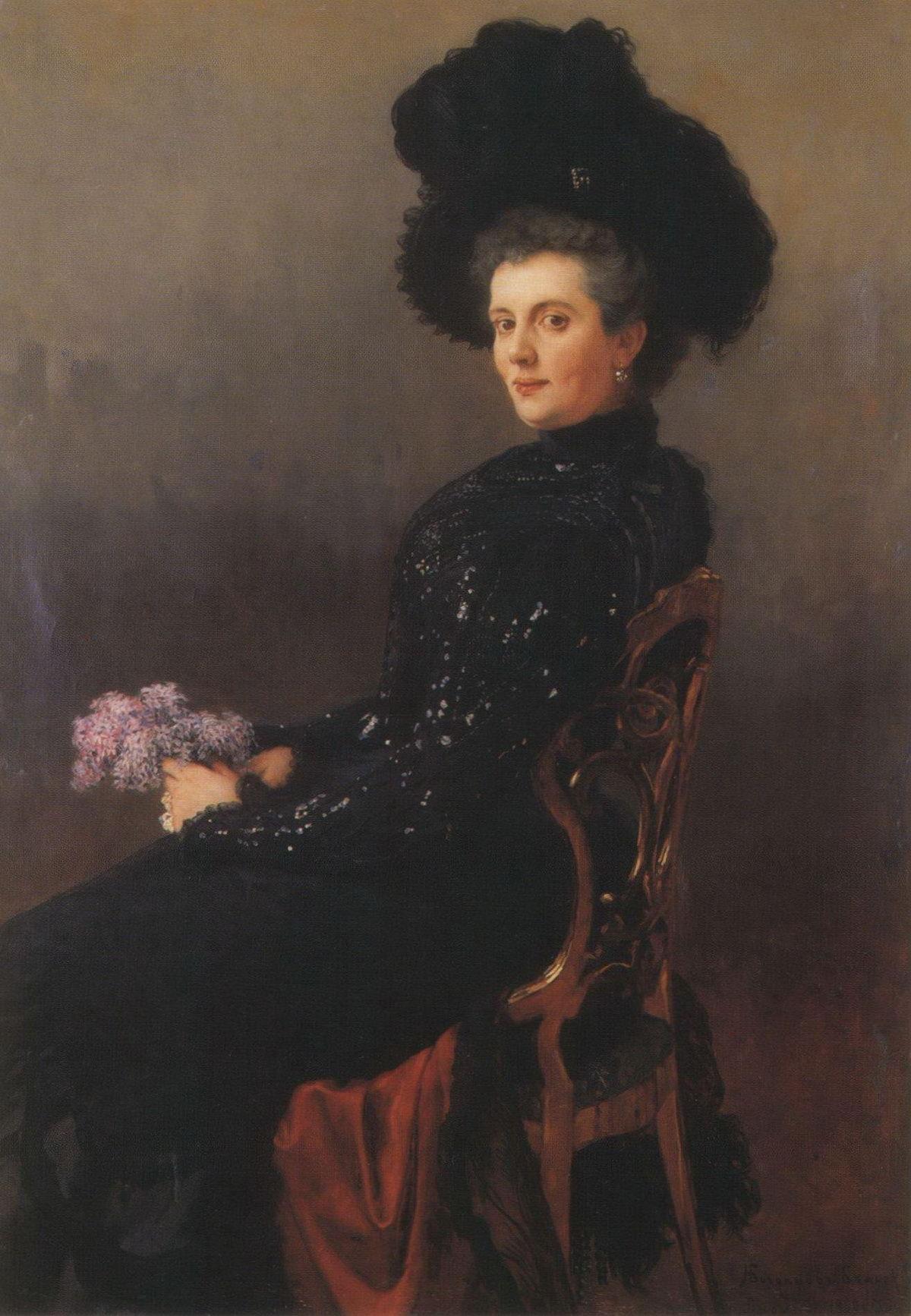 Богданов-Бельский Н.П. Картина. Портрет дамы в кресле. 1900