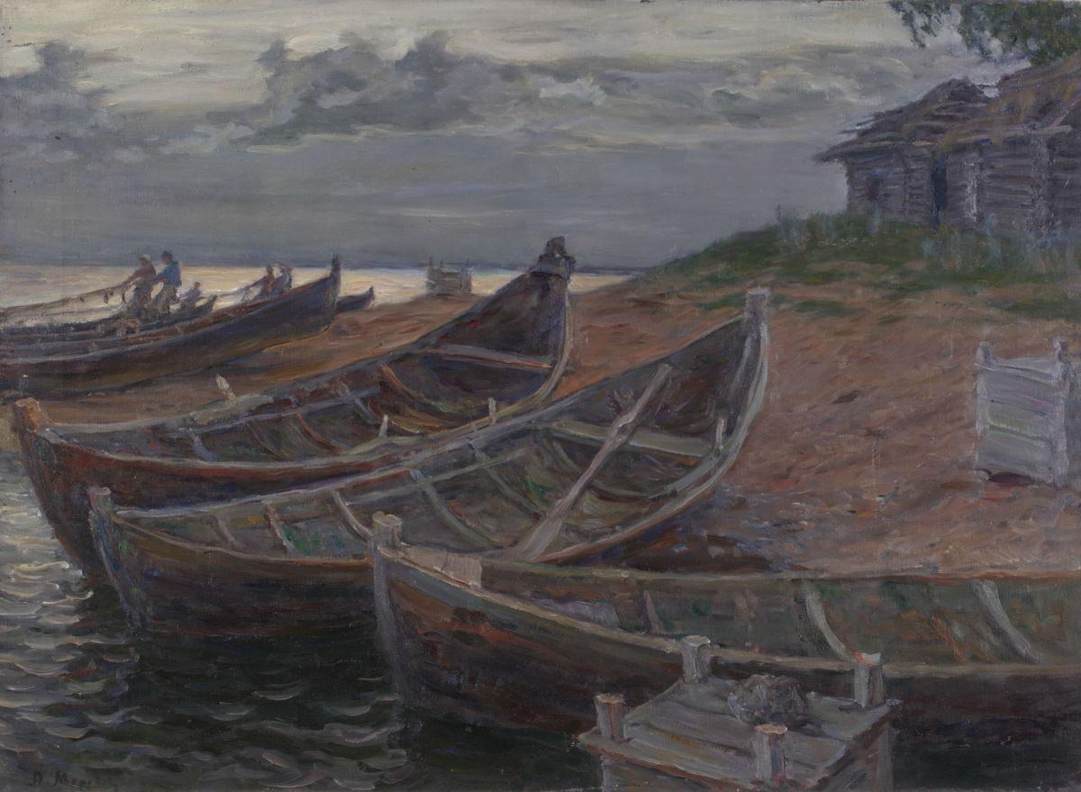 Моравов А.В. Картина. На северном озере. 1910