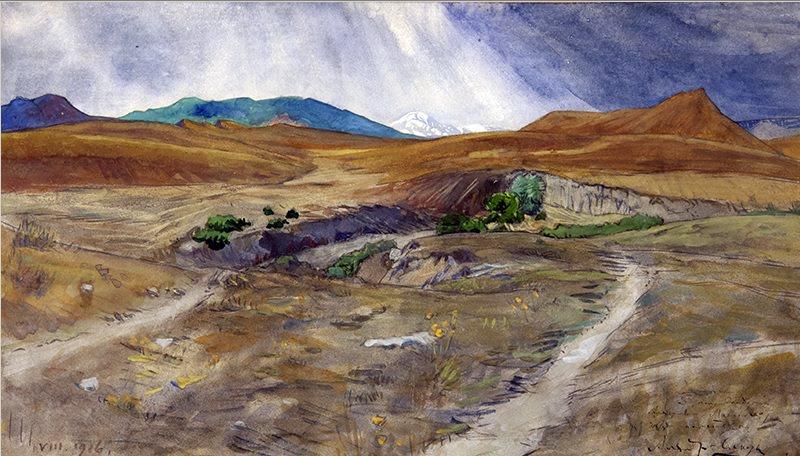 Выставка одной картины «А. Н. Бенуа (1870 – 1960). «Горный пейзаж». 1913 г