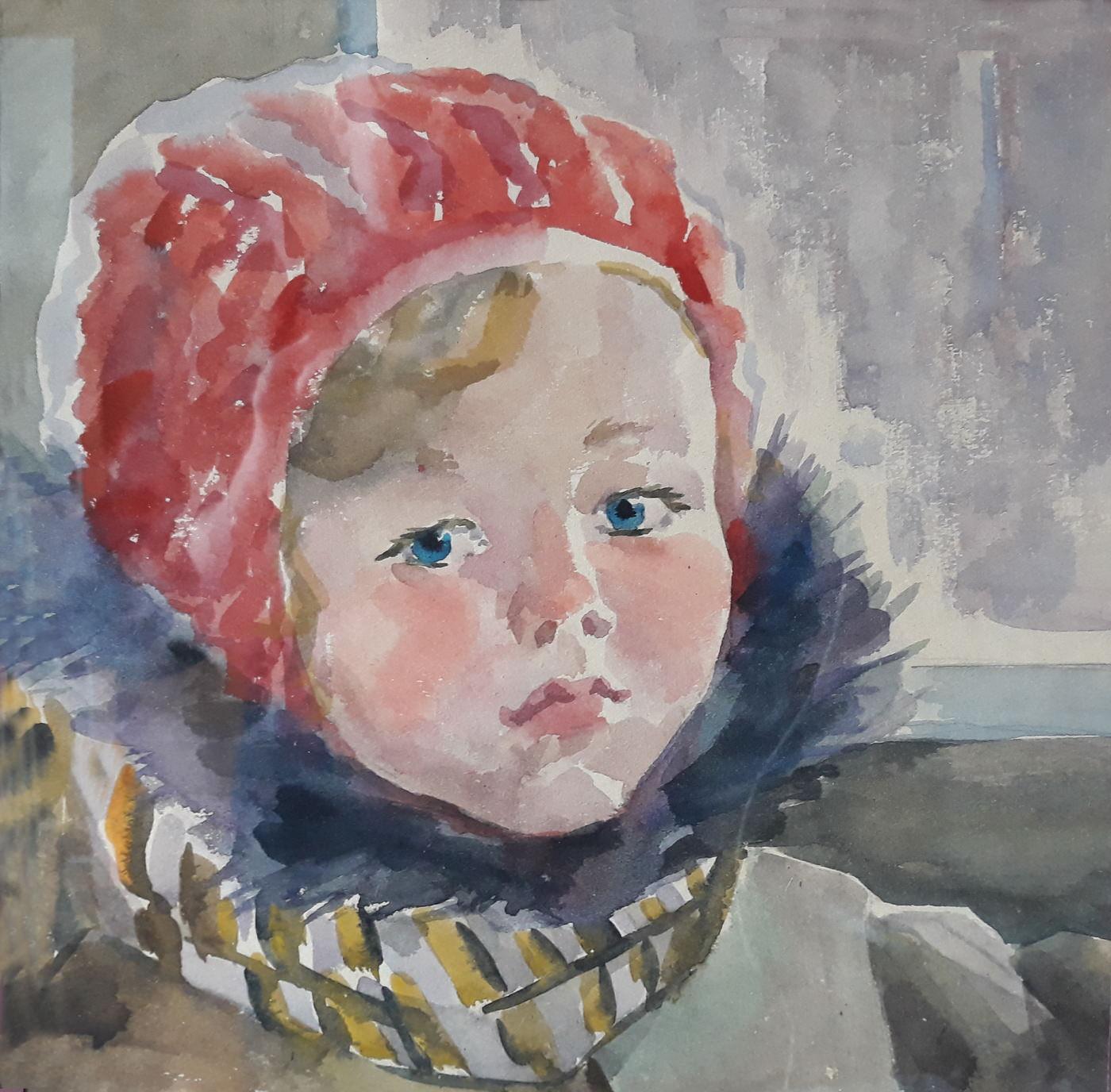 Пылаева Анна Владимировна. Детский портрет. Акварель