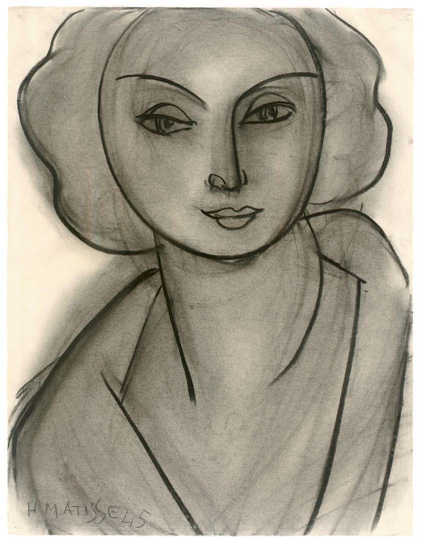 Анри Матисс (1869–1954). Женский портрет (Л.Н. Делекторская). 1945. ГМИИ им. А.С. Пушкина