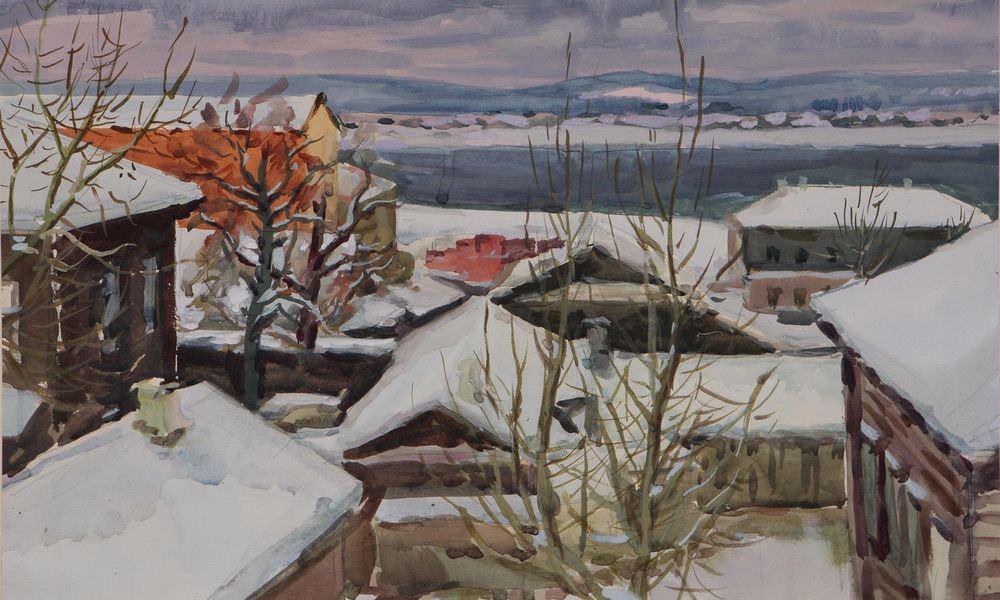 Россик И.И. Рисунок. Первый снег.