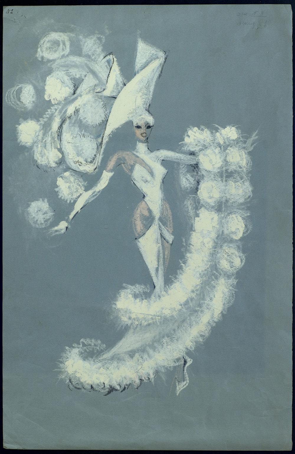 Эскизы костюмов к спектаклю «Безумный век», театр «Мюзик-Холл» (Санкт-Петербург, 1999)