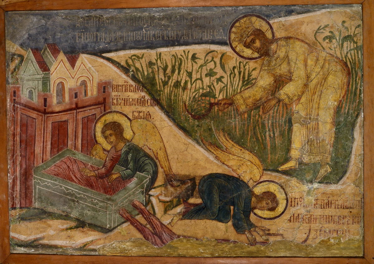 """Le Musée d'architecture ouvre une exposition permanente """"Kalyazin. Fresques du monastère inondé"""""""