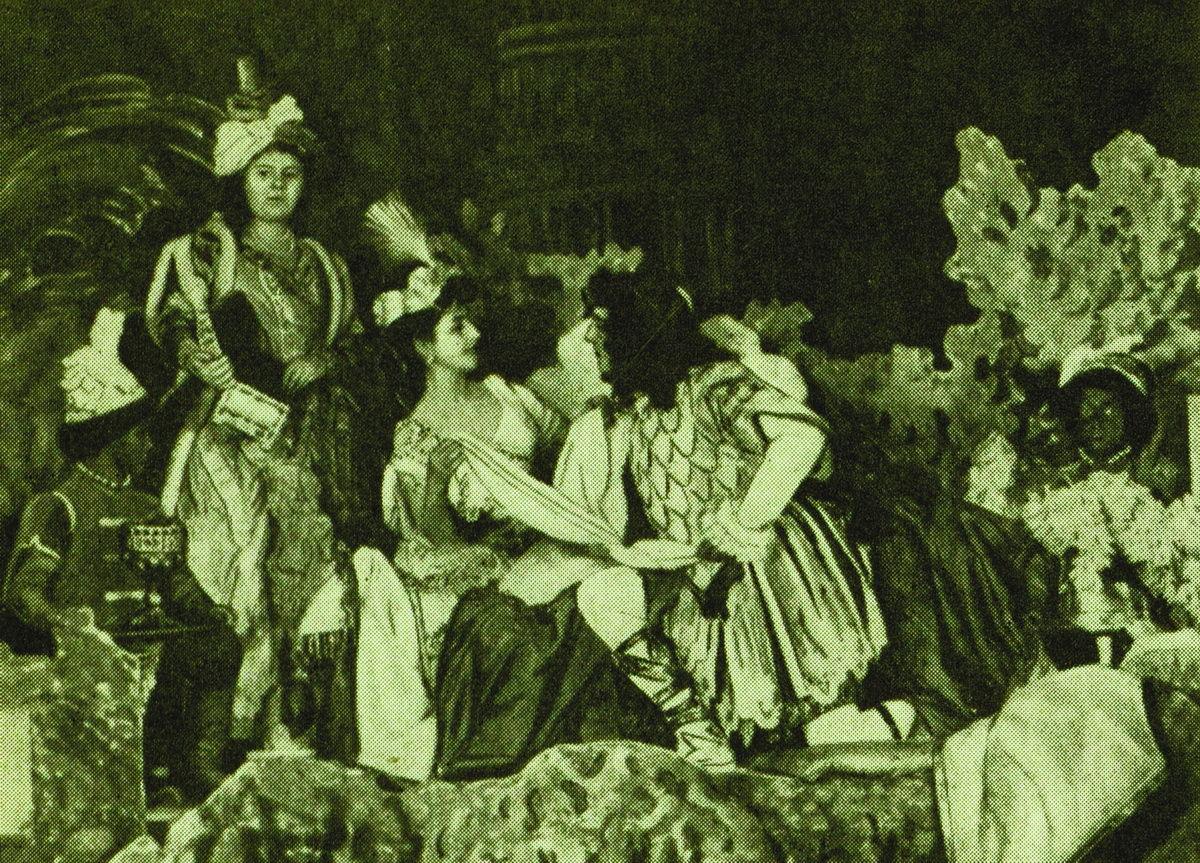 Сцена из балета «Павильон Армиды». Мариинский театр, 1907 год