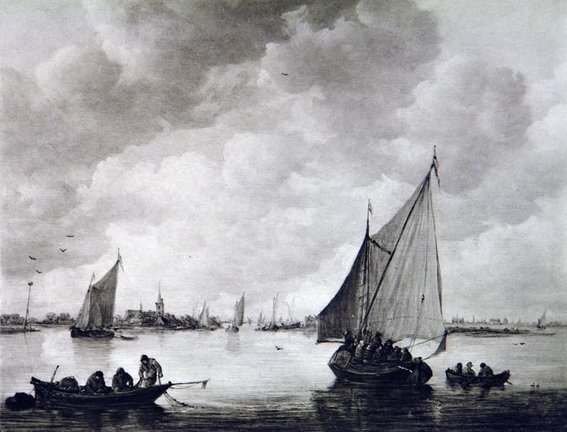 Выставка одной картины Яна ван Гойена (1596 – 1656) «Рыбачья лодка в устье реки»