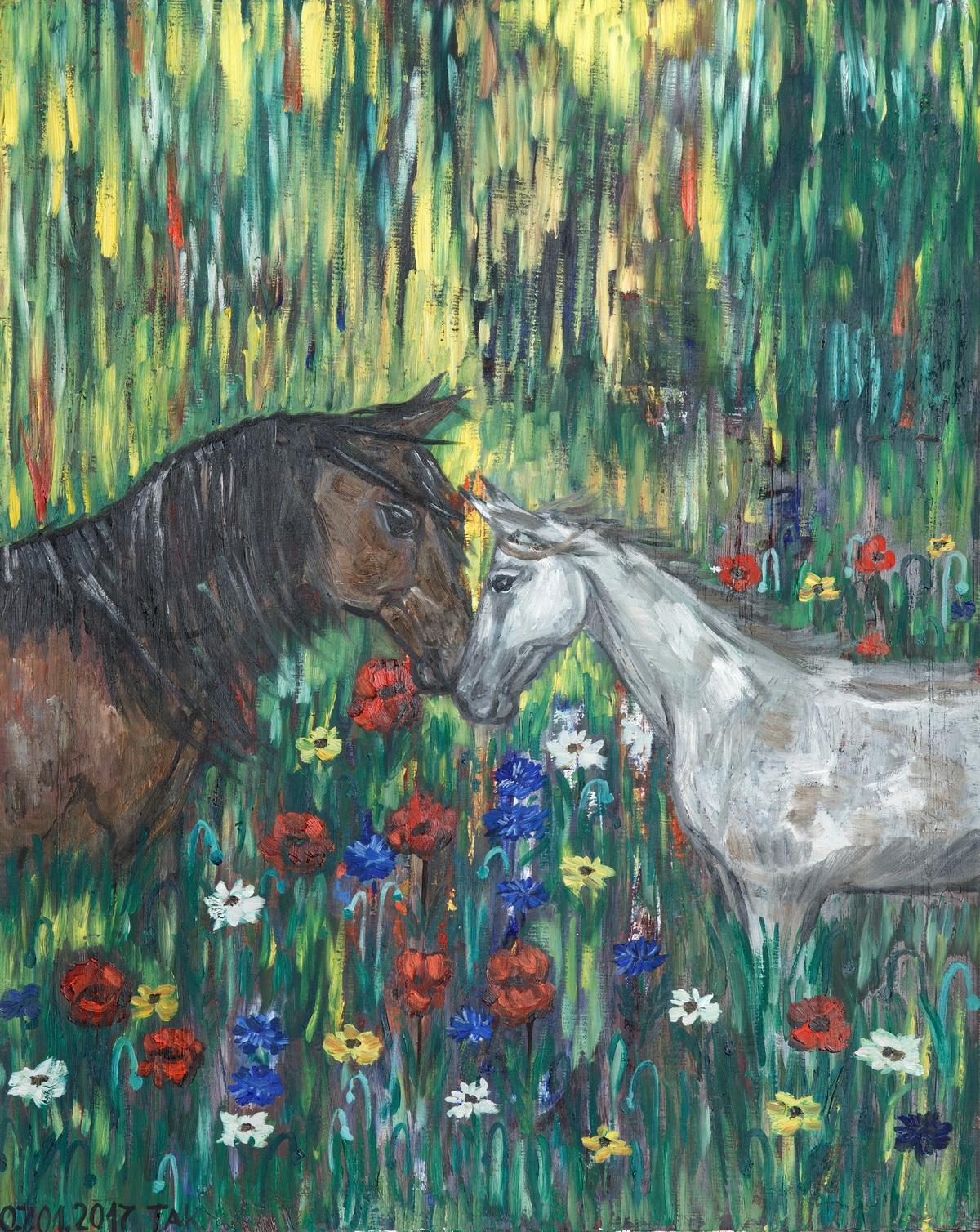Т.Кочемасова. «Летнее настроение» из серии «Истории лошадей»