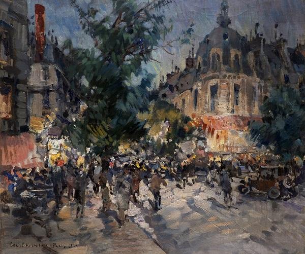 Константин Коровин. Ночной бульвар в Париже. 1927. Холст масло