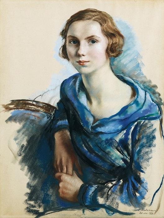Зинаида Серебрякова. Портрет Марианны Броуэр. 1931. Бумага пастель