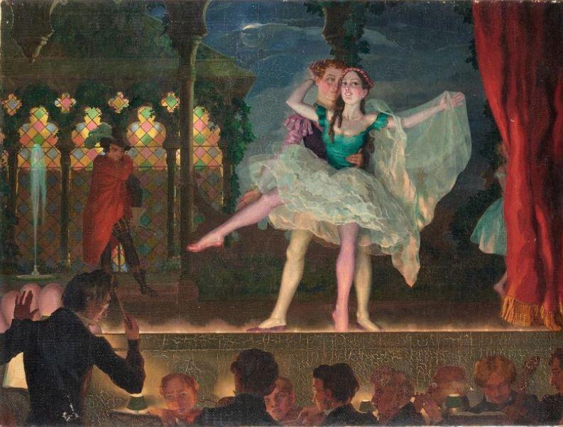 Сомов Константин. Старый балет. 1923. Частное собрание.