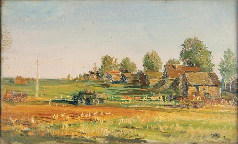 """Ausstellung eines Gemäldes von Serafima Vasilyevna Ryangina """"Neue Straße"""""""