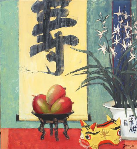 Татьяна Ян. Долголетие, 2013-2014. Холст, масло, 120х110 Courtesy of the East Meets West Gallery