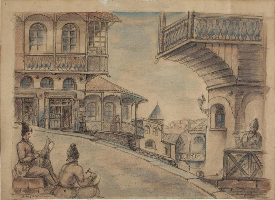 Ладо Гудиашвили. Старый Тбилиси. Винный подем