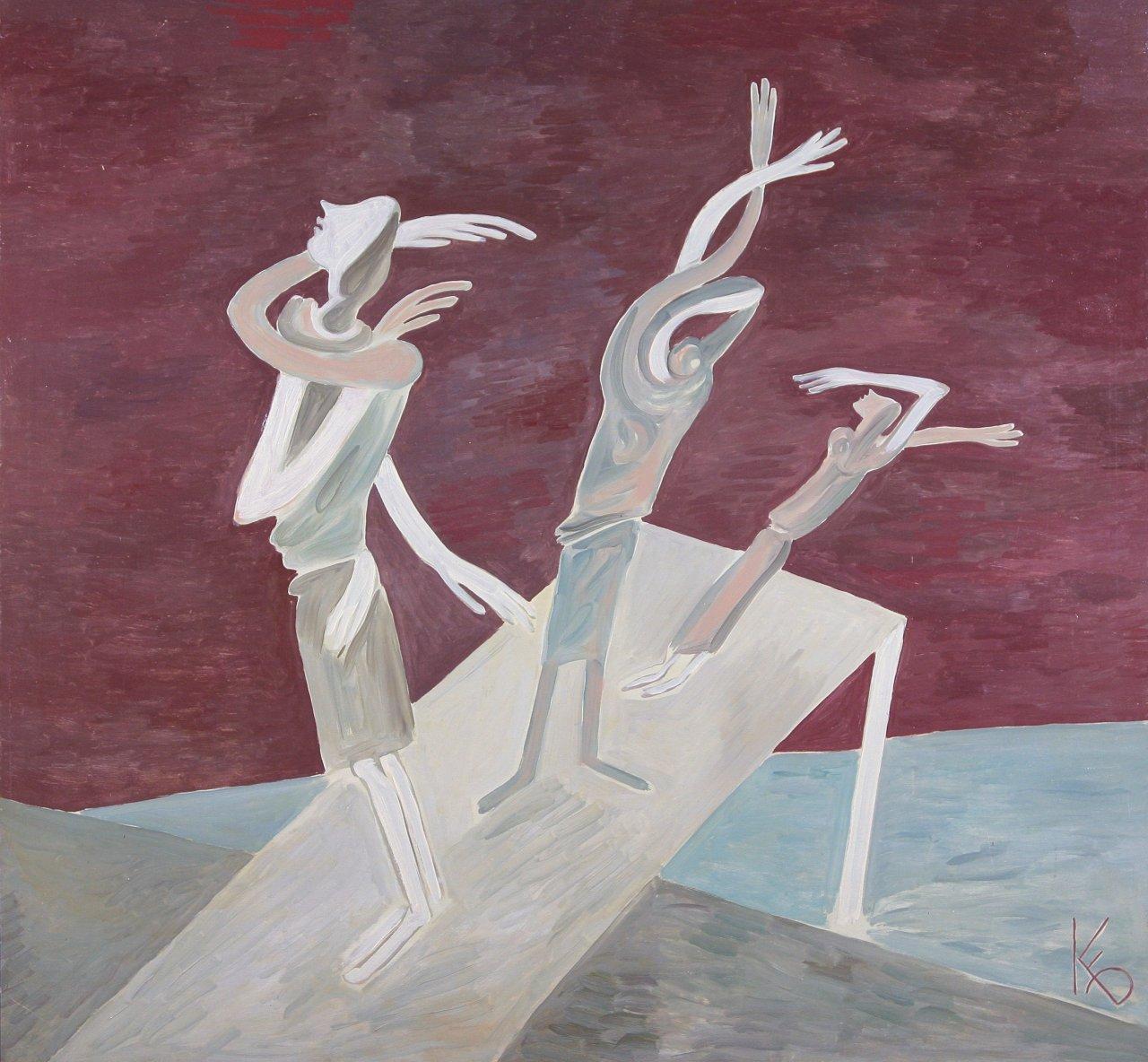Борис Кочейшвили. Перед грозой. 1988 Оргалит, масло. 122×129