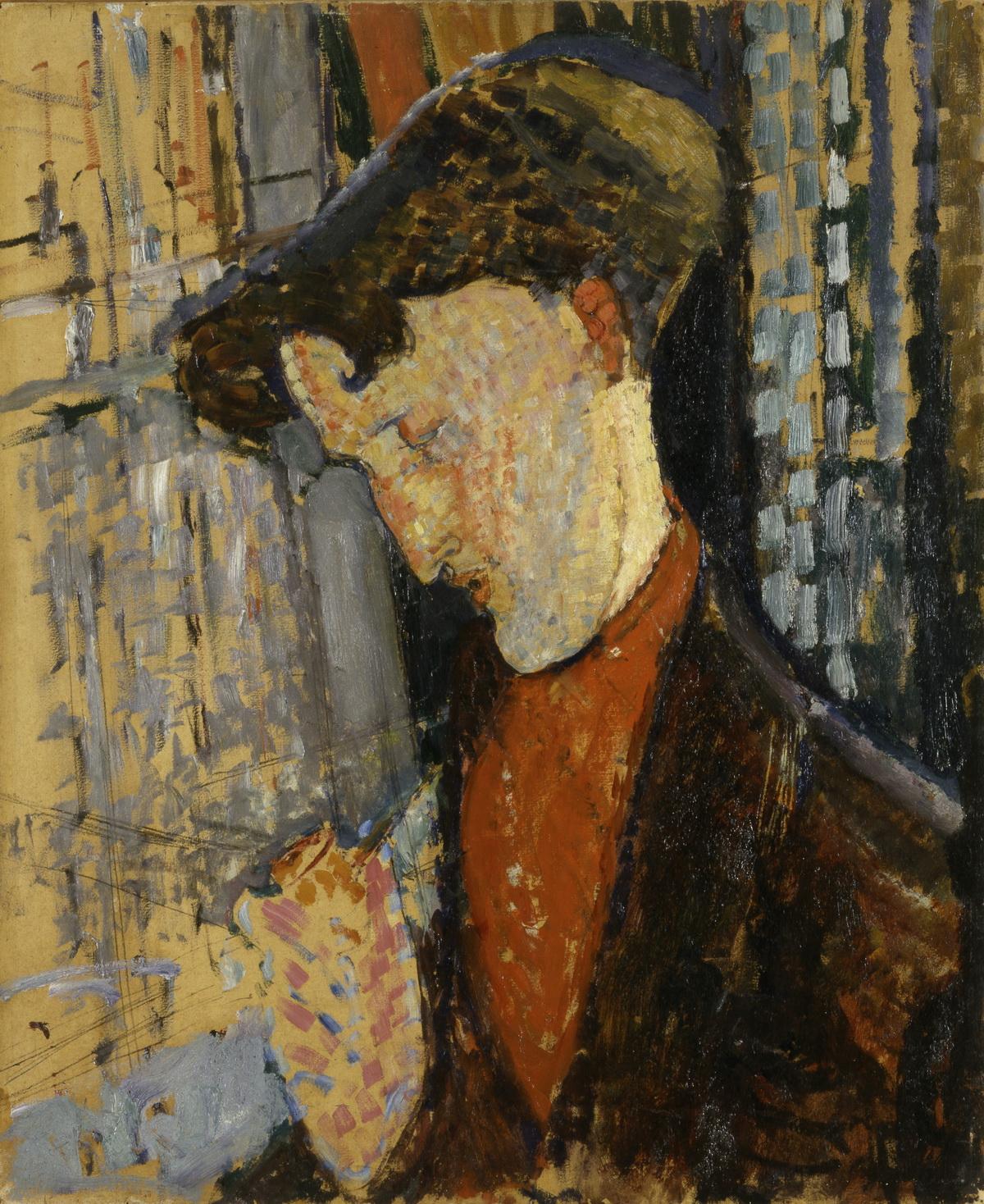 Амедео Модильяни. Портрет художника Фрэнка Хэвиленда. 1914