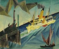 Lyonel Feininger - Raddampfer am Landungssteg