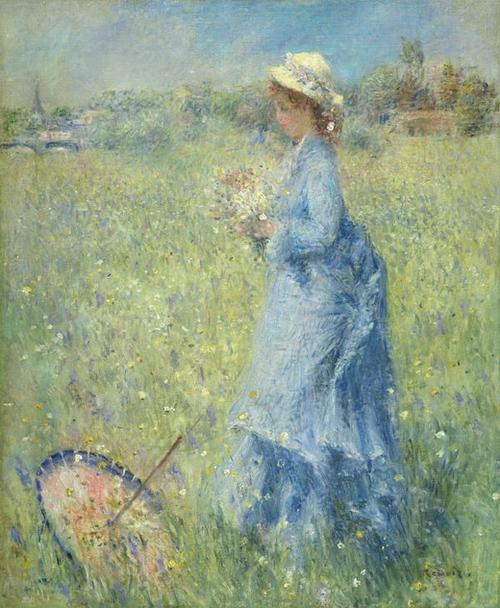 Пьер Огюст Ренуар - Женщина, собирающая цветы (1874)